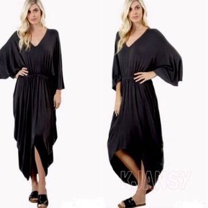 Other - Black Caftan Cover Up Dress